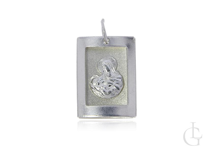 Srebrny medalik pr.0,925 z wizerunkiem Matki Boskiej Karmiącej
