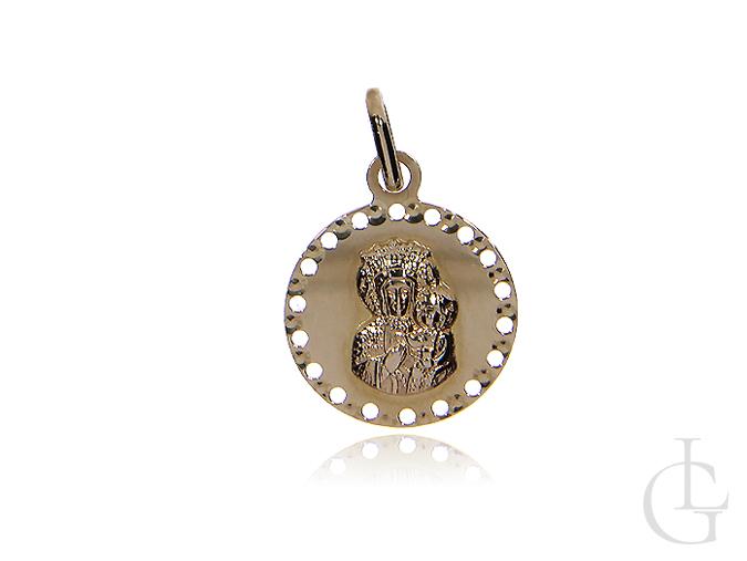 Medalik okrągły z Maryją i Jezusem