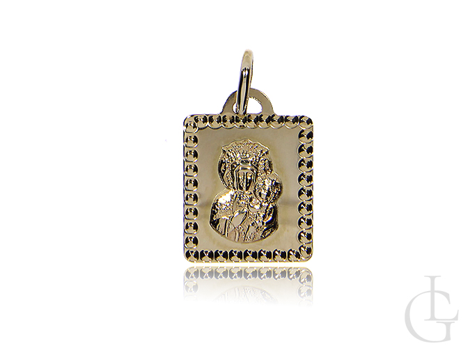 Medalik złoto pr.0,585 z Matką Bożą i Dzieciątkiem