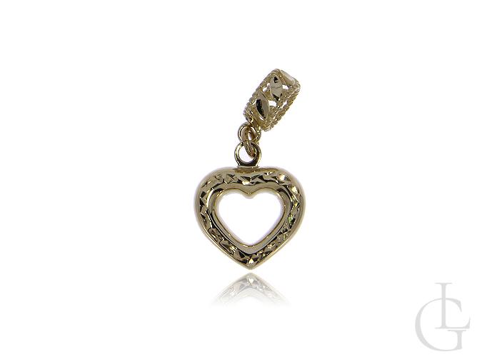 Przywieszka beads charms ze złota pr.0,585 serduszko