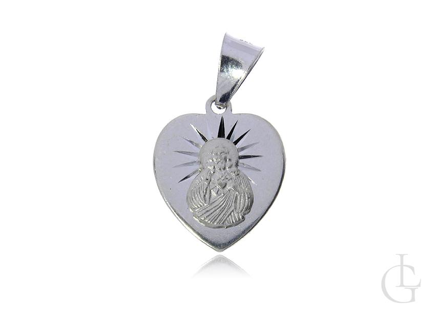 Serce medalik srebrny pr.0,925 Szkaplerz