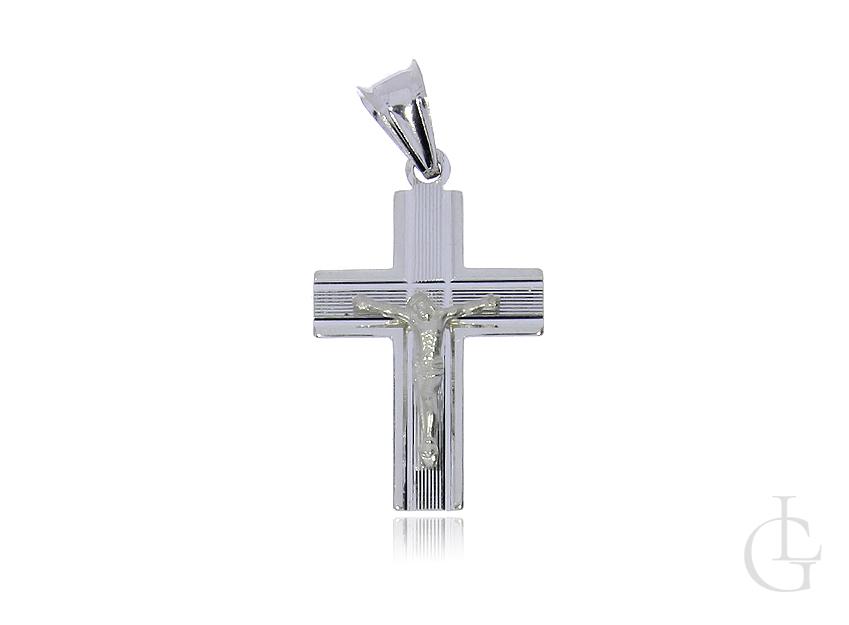 Krzyżyk ze srebra pr.0,925 z wizerunkiem Pana Jezusa na prezent