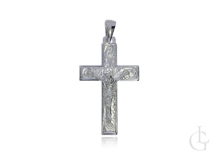Krzyżyk ze srebra pr.0,925 z wizerunkiem Jezusa