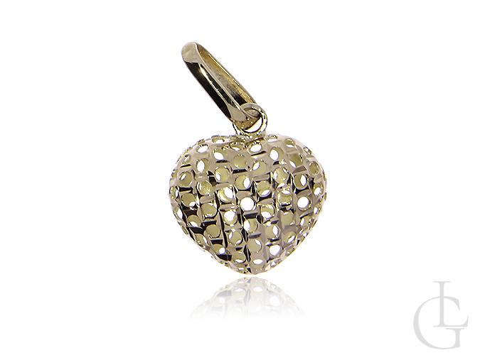 Złoty wisiorek pr.0,585 ażurowe serduszko na prezent