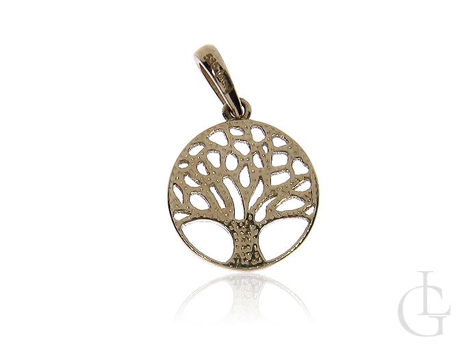 Drzewko szczęścia wisiorek ze złota pr.0,585 na prezent