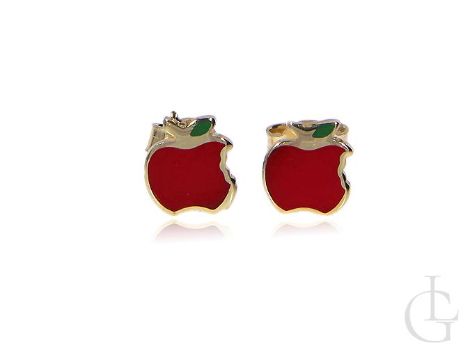 Kolczyki ze złota pr.0,585 jabłuszka