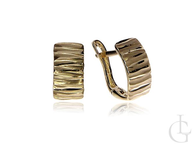 Kolczyki złote pr.0,585 na angielskie zapięcia na prezent