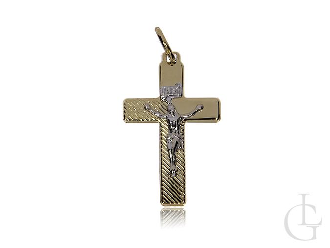 Krzyżyk ze złota pr.0,585 na prezent Komunia Święta, Chrzest, Bierzmowanie