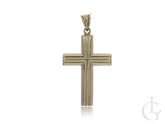 Krzyżyk złoty pr. 0,585 z nacięciami
