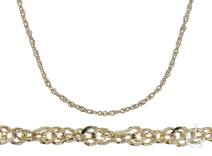 Złoty łańcuszek pr.0,585 splot podwójny SINGAPUR