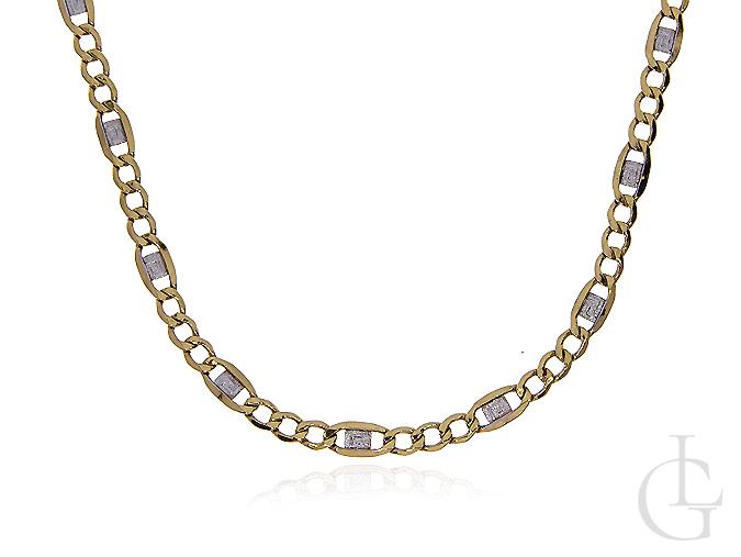 Łańcuszek ze złota pr.0,585 zdobione figaro