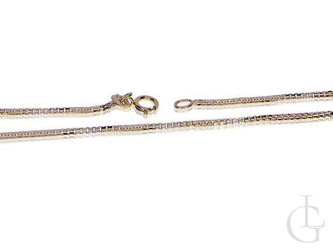 Złoty łańcuszek splot kostka złoto pr, 0.585 14K