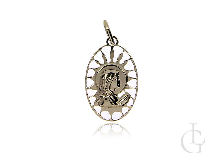 Ażurowy medalik z Matką Bożą złoto pr.0,585