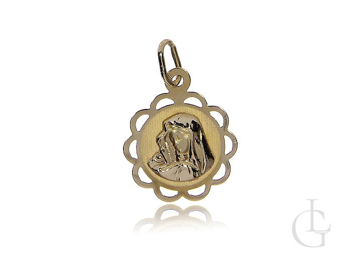 Medalik złoty pr.0,585 z Matką Bożą