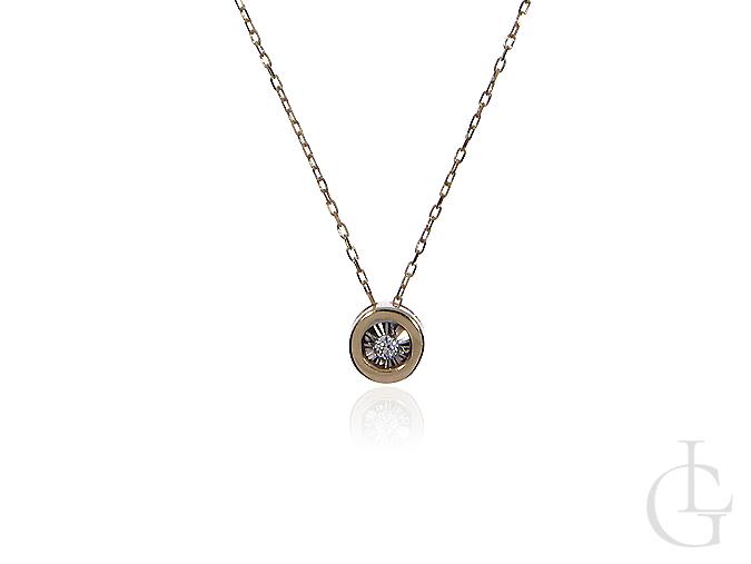 Naszyjnik celebrytka ze złota pr.0,585 z brylantem
