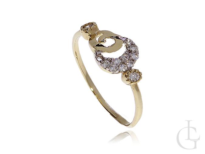 Zmysłowy pierścionek zaręczynowy złoy