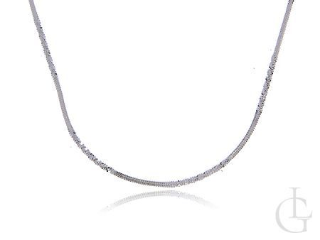 Elegancki łańcuszek ze srebra pr.0,925 diamentowana kostka