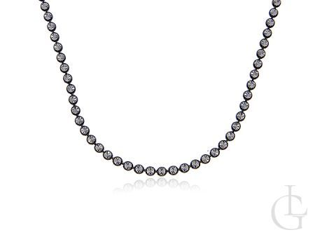 Łańcuszek ze srebra pr.0,925 pokrywanego czarnym rodem z diamentowaniem