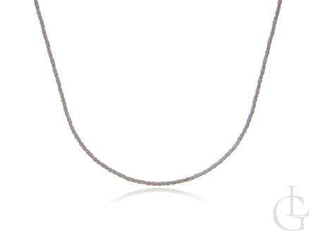 Łańcuszek ze srebra pr.0,925 diamentowana linka