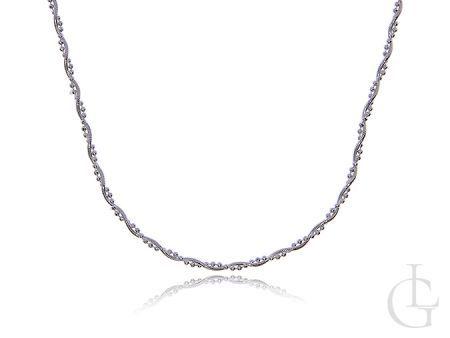 Łańcuszek damski ze srebra pr.0,925 podwójna Linka z kuleczkami