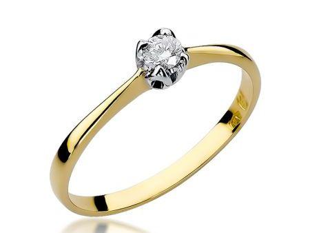Złoty pierścionek na zaręczyny pr.0,585 z brylantem