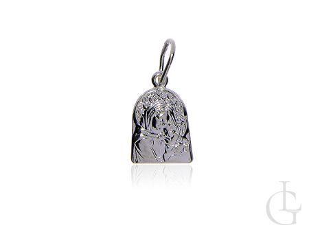 Medalik srebro pr.0,925 Matka Booża z Dzieciątkiem na Chrzciny I Komunię Świętą