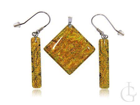 Komplet biżuterii ze srebra pr.0,925 szkło weneckie Murano Glass