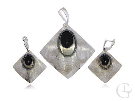 Srebrny komplet biżuterii pr.0,925 z nyksem prezent
