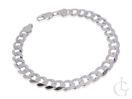 Srebrna bransoleta łańcuszkowa pr.0,925 o splocie Pancerka dla mężczyzny na prezent