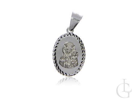 Medalik z Matką Boską Częstochowską ze srebra pr.0,925