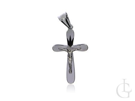 Krzyżyk z wizerunkiem Jezusa srebro rodowane pr.0,925