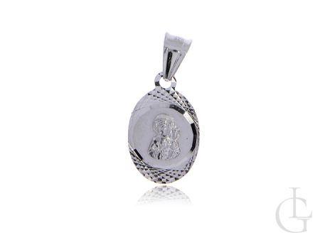 Medalik ze srebra rodowanego pr.0,925 Matka Boska Częstochowska
