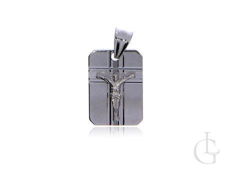 Blaszka z wizerunkiem Pana Jezusa srebro rodowane pr.0,925