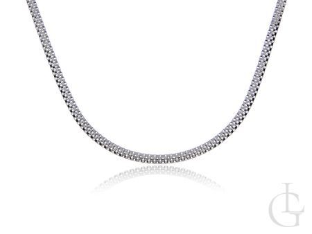 Łańcuszek srebrny pr.0,925 półokrągły BISMARK
