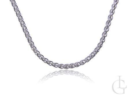 Łańcuszek ze srebra pr.0,925 o ciekawym splocie KŁOS