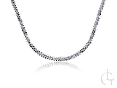 Prześliczny połyskujący łańcuszek damski ze srebra pr.0,925