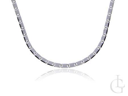 Srebrny łańcuszek pr.0,925 BLASZKI łańcuszek UNISEX