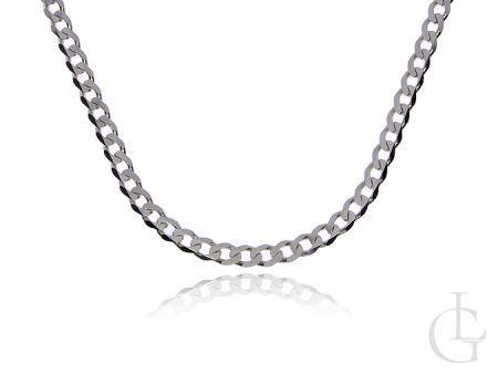 Łańcuszek ze srebra pr.0,925 o pełnym splocie PANCERKA 60 cm