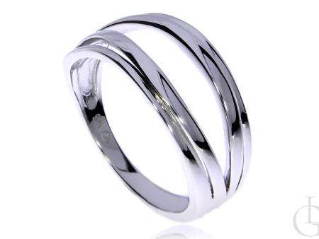 Ciekawy pierścionek obrączka ze srebra rodowanego pr.0,925