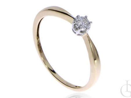Pierścionek na zaręczyny ze złota pr.0,585 z diamentem