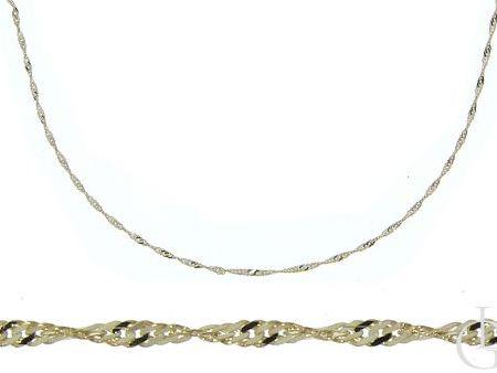 Złoty łańcuszek pr.0,585 o splocie SINAPUR
