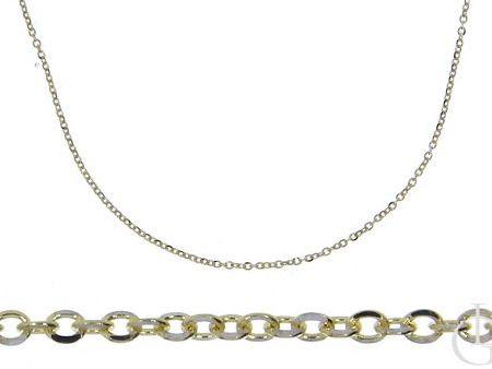Złoty łańcuszek pr.0,585 o splocie ANKIER na prezent