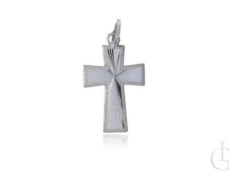 Srebrny krzyżyk pr.0,925 z diamentowanym wykończeniem