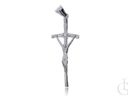 Srebrny krzyżyk papieski pr.0,925 na prezent