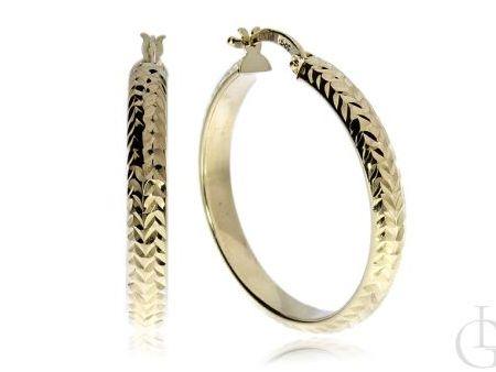 Kolczyki złote koła diamentowane pr.0,585