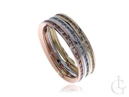 Ekskluzywna złota obrączka pierścionek czerwone żółte białe złoto