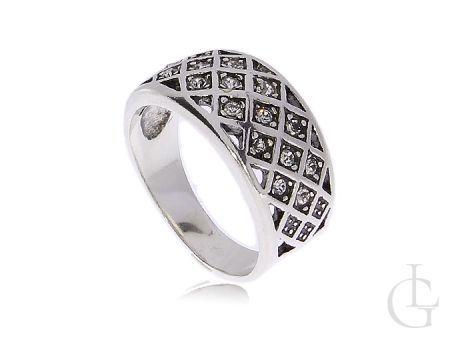 Zmysłowy srebrny pierścionek obrączka