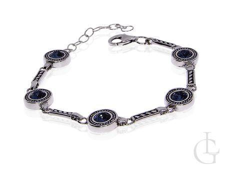 Srebrna bransoletka z kryształami Swarovskiego