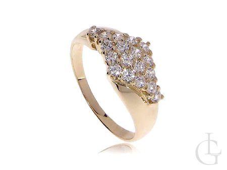 Ekskluzywny złoty pierścionek z kamieniami
