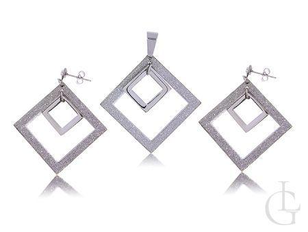 Komplet biżuterii damskiej kolczyki i zawieszka